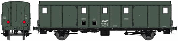 REE Modeles VB-116S - French Luggage Car OCEM 29 of the SNCF - Digital Doors