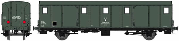 REE Modeles VB-117 - French Luggage Car OCEM 29 of the SNCF