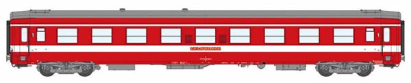 REE Modeles VB-120 - 1st Class French Passenger Coach A9 Red Plate Capitol