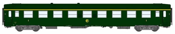 REE Modeles VB-126 - 1st Class French Passenger Coach A9 Celtic Green