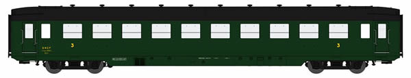 REE Modeles VB-128 - French Wagon DEV AO U46 C10 Green 306 of the SNCF