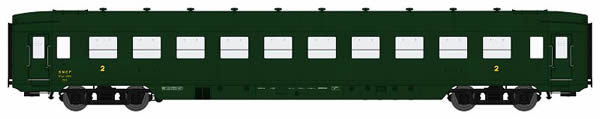 REE Modeles VB-131 - French Wagon DEV AO U46 B10 Green 306 of the SNCF