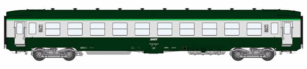 REE Modeles VB-143 - 2nd Class French Passenger Coach DEV AO B10 U52