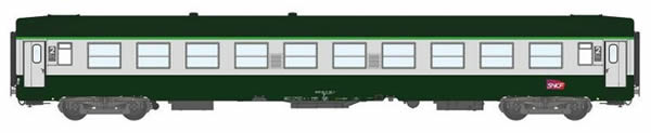 REE Modeles VB-164 - 2nd Class French Passenger Coach B10 Green scrubland 302