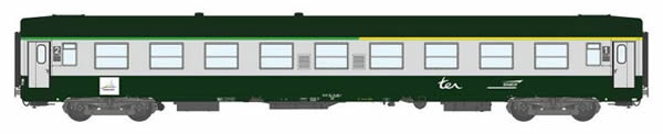 REE Modeles VB-167 - 1/2 Class French Passenger Coach A4B5 Green scrubland 302