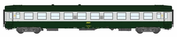 REE Modeles VB-169 - 2nd Class French Passenger Coach B10 Green scrubland 302