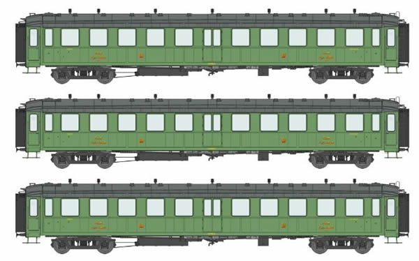 REE Modeles VB-210 - 3pc Passenger Coach Set Bacalan