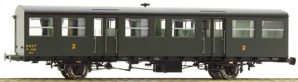 REE Modeles VB-245 - French SNCF Southwest Car, little gutters, modern lantern holder, Hihg roof Era III B