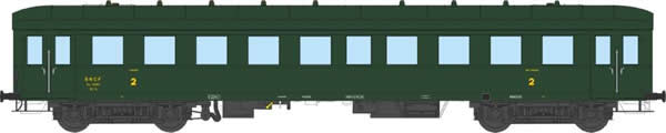 REE Modeles VB-36106 - 2nd Class Passenger Coach Bastille No. 14901 with advertising BANANIA