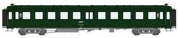 REE Modeles VB-377 - French SNCF BACALAN Coach 2nd class B11 SNCF Era IV   cartouche Corail   class signage