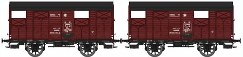 REE Modeles WB-263 - French 2pc Closed Wagon Set of the PLM