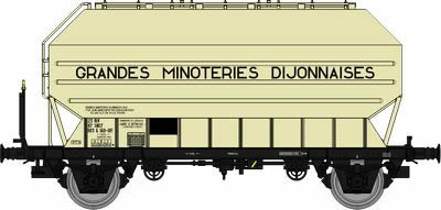 REE Modeles WB-327 - French 2pc Cereal Wagon Set  FRANGECO B ôGRANDES MINOTERIES DIJONNAISESö of the SNCF
