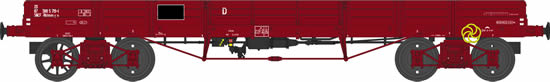 REE Modeles WB-396 - French Flat Wagon TP N° 20 87 388 5 719-1 Rklmm0-31 of the SNCF