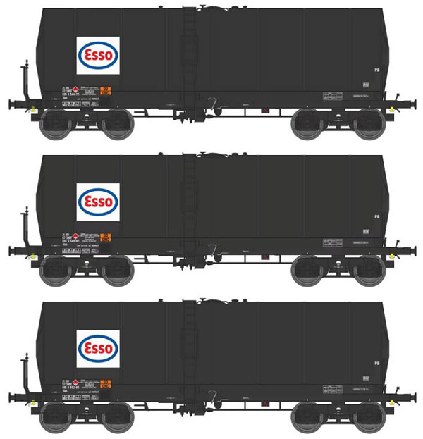 REE Modeles WB-449 - 3pc ESSO Tank Car Set
