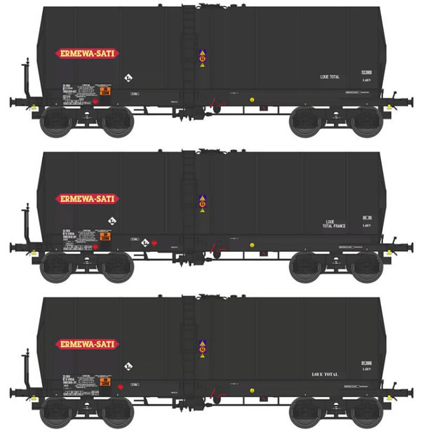 REE Modeles WB-451 - 3pc ERMEWA SATI Tank Car Set
