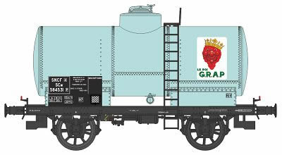REE Modeles WB-467 - French Tank Car OCEM 19 Era III SNCF GRAP for Wine