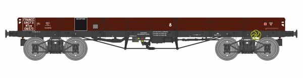 REE Modeles WB-499 - Wagon TP FLAT 5 A flatbed train NTyw 136,573