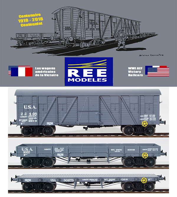 REE Modeles WB-541 - 100 Year WWI U.S. Army Transportation Corp Anniversary Set