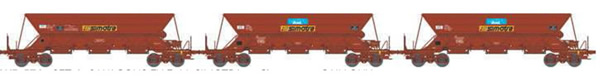REE Modeles WB-576 - SET of 3 French Hopper Wagon EX Era V  SIMOTRA   - Loading STONES