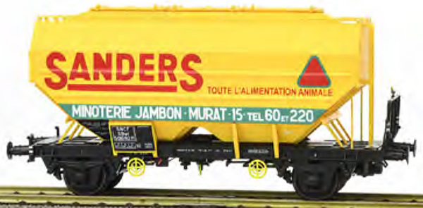 REE Modeles WB-628 - French Grain Car RICHARD manufacturing SANDERS Old Logo Era III