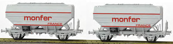 REE Modeles WB-632 - Set of 2 French Grain Car MONFER Grey Era IV