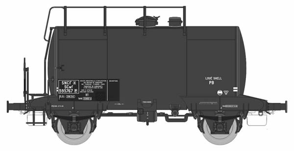 REE Modeles WBE-003 - French Tank Wagon ex-DR Era III SNCF  N° SCwf 595767  Rented SHELL