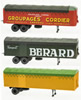 Set of 3 Trailer KANGOUROU (BERARD-CORDIER-RENAULT Yellow)