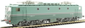 French Electric Locomotive Class CC-7150 of the SNCF original green liver SE Lyon Mouche MISTRAL -
