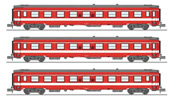 SET of 3 UIC CAR A9 Era IV Red CAPITOLE RESERVE