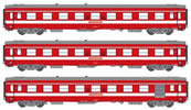 1st Class French 3pc Passenger Coach Set Red Plate Capitol