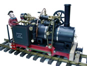 Vincent live steam locomotive w. chain drive