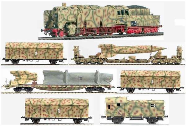 REI Models 0032s - German WWII Wehrmacht V2 Transport Set in Ambush Livery (Sound)