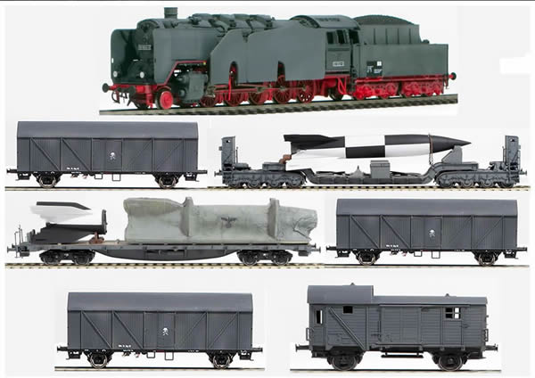 REI Models 0033s - German WWII Wehrmacht V2 Transport Set in Grey Livery (SOUND)