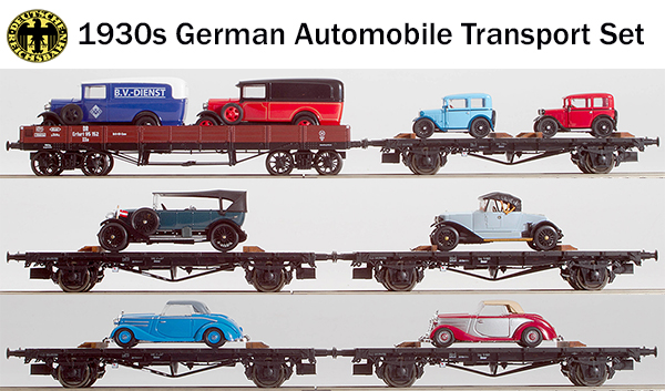 REI Models 0036 - 1930s German Era II Automobile Transport Set