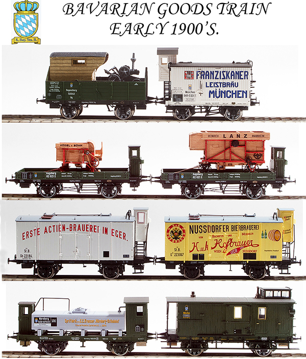 REI Models 10001 - Early 1900s Bavarian State Railways Goods Train