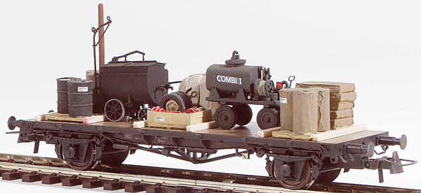 REI Models 20332 - Tar and Oil Wagons equipment Transport (Hand Weathered & Painted)