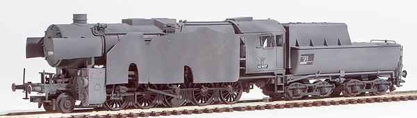 REI Models 39042GW - German Steam Locomotive BR 42 of the DRB Wehrmacht Grey Armor Pating (SOUND)