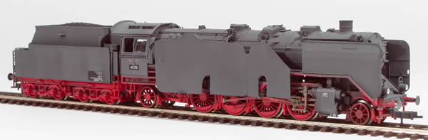 REI Models 413271GW - German Steam Locomotive BR 41 of the DRB Wehrmacht Grey  Armor Plating (SOUND)