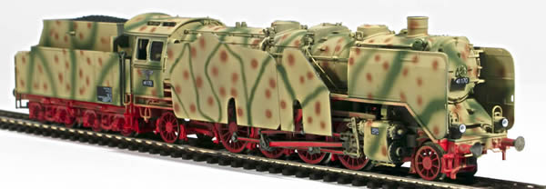 REI Models 413271SAC - German Steam Locomotive BR 41 of the DRB WWII Summer Ambush Camo (SOUND)