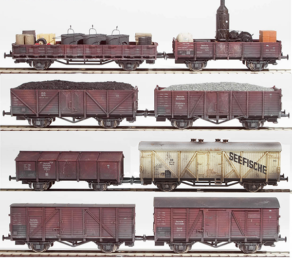 REI Models 440033 - German DB eight piece custom weathered freight car set