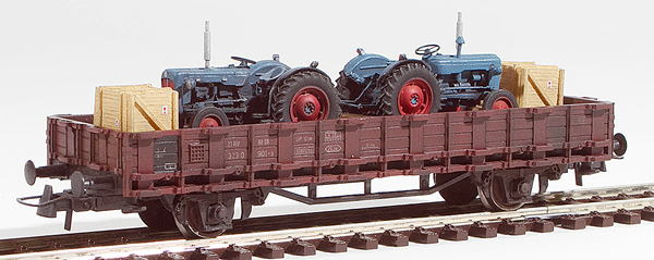 REI Models 460312 - Fordson Dexta Tractor Transport (Hand Weathered & Painted)