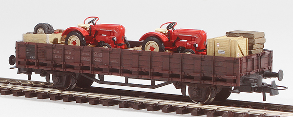 REI Models 460313 - Porsche Junior Tractor Transport (Hand Weathered & Painted)