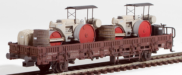 REI Models 46941 - Heavy Kaelble Street Roller Transport ( Hand Weathered & Painted)