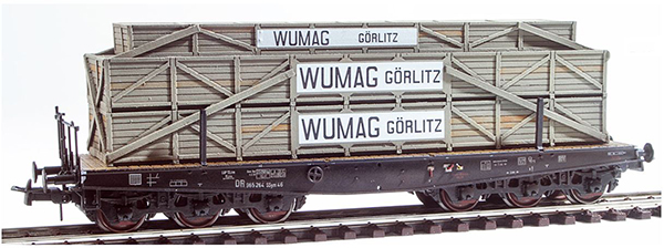 REI Models 48780154 - Heavy East German Wumag Görlitz Crate Transport ( Hand Weathered & Painted)