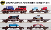 1930s German Era II Automobile Transport Set