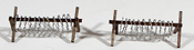 Barbed Wire Barricades Set of 3