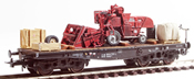 Heavy  Massey Ferguson Combine Transport ( Hand Weathered & Painted)