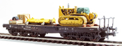 Heavy Bulldozer Transport ( Hand Weathered & Painted)