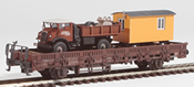 REI Models 46942 Heavy Dump Truck & Construction Trailer Transport (Hand Weathered & Painted)