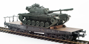 BRD German Bundeswehr M48 A2 Patton loaded on a six axle flat car